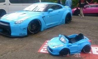Liberty Walk Widebody Ferrari for Children: Tuning Hits Kids' Cars