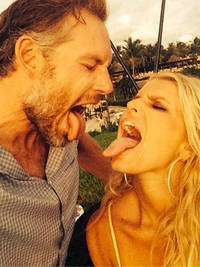 Jessica Simpson beams from ear to ear in new loved up honeymoon snaps
